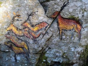 Ancestral Living - cave paintings